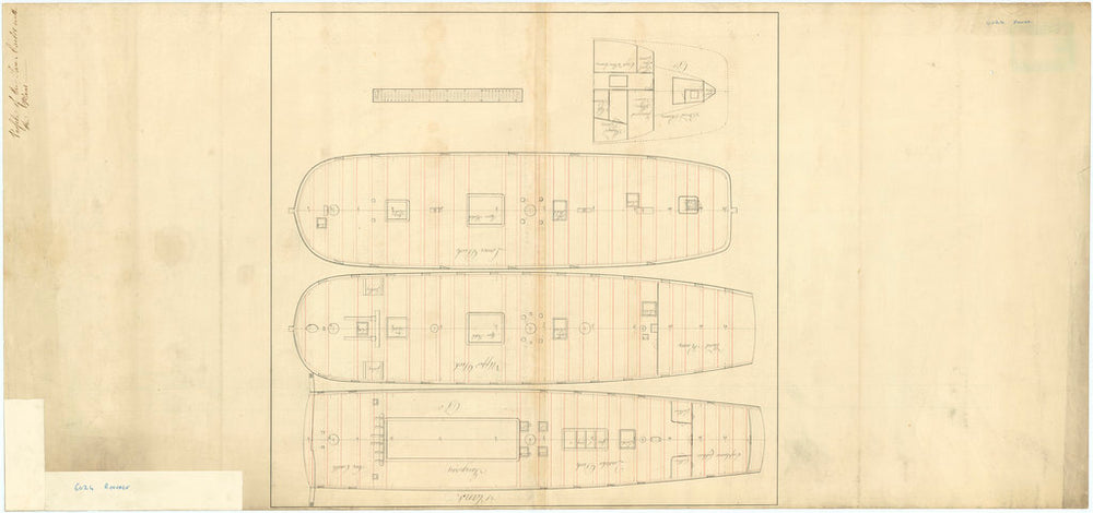 Profiel plan of San Carlos (captured 1779) [Reverse of plan]