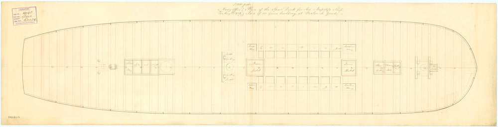 Plan for the upper deck of 'Isis' (1819)