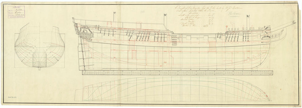 Lines and profile plan for Echo (1782)