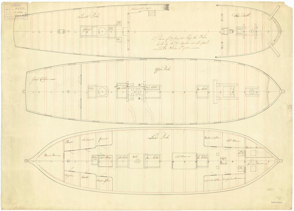 Deck plan for Echo (1782)