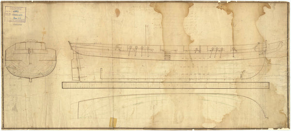 Lines plan for 'Growler'