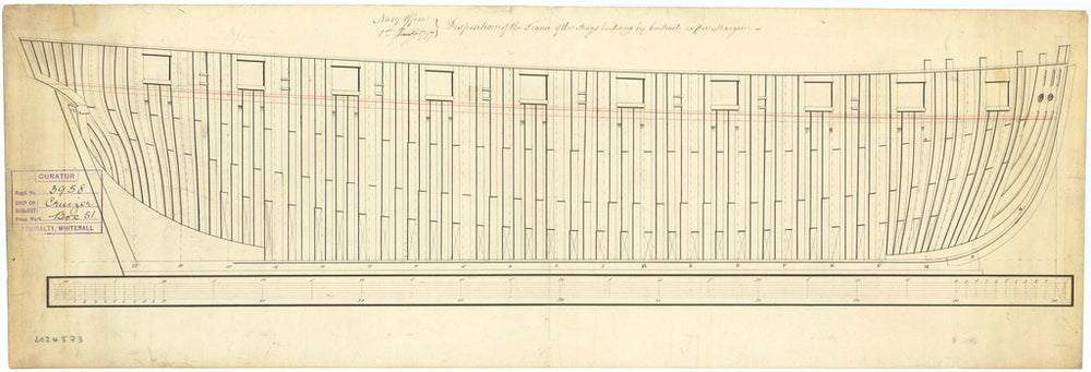 The frame plan of the 'Cruizer' (1797)