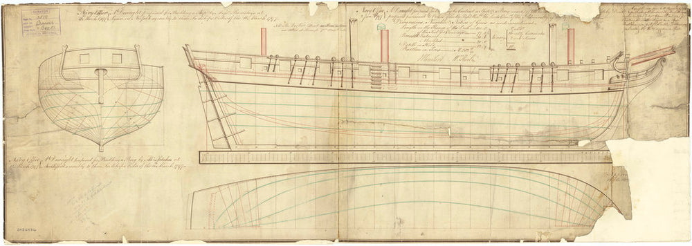The lines plan of the 'Cruizer' (1797)
