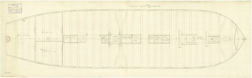 Upper deck plan for 'Endymion' (1797)