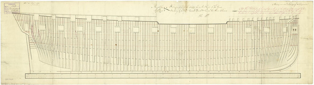Frame plan for 'Endymion' (1797)