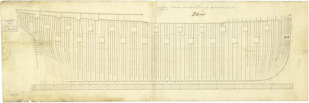 Framing profile plan for Chichester (1785)