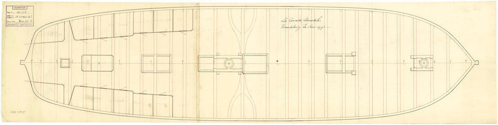 Lower deck plan of Concorde (1783)