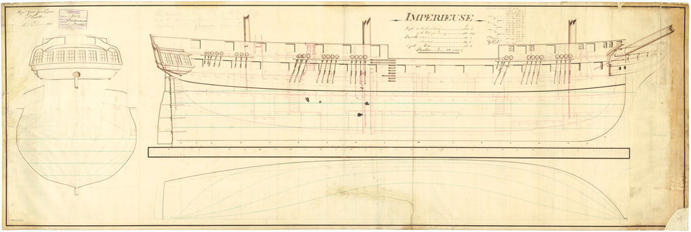 Lines and profile plan 'Imperieuse' (1804)