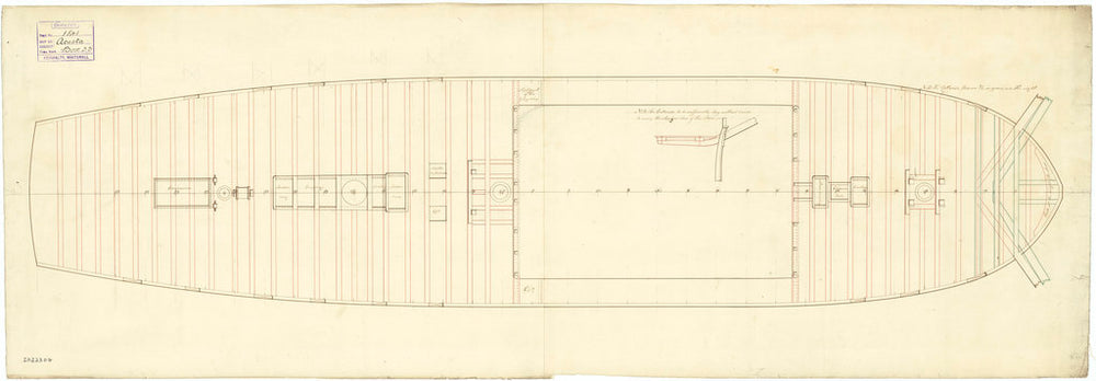 The deck, quarter & forecastle plan of the 'Acasta' (1797)