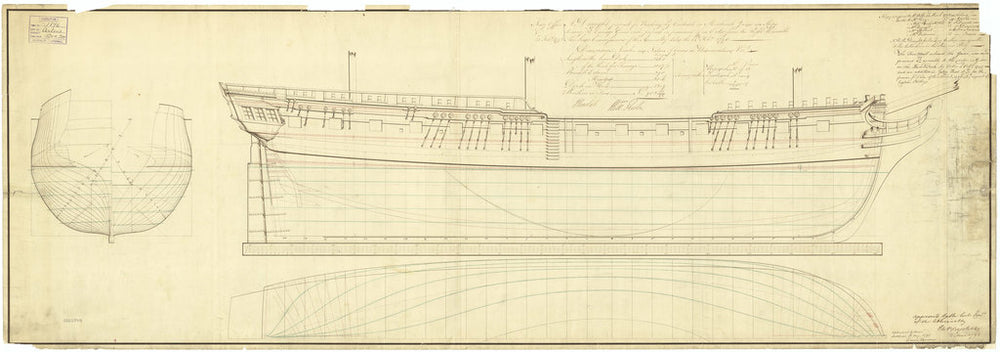 Lines plan of Diana (1794)