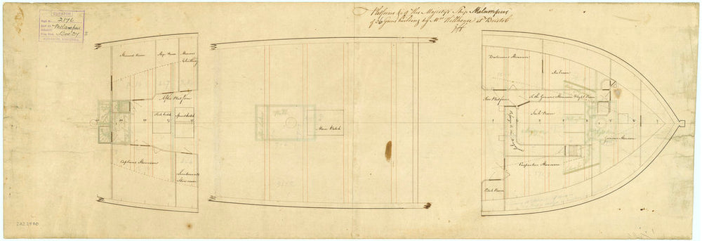 A platform of HMS 'Melampus' (1785)