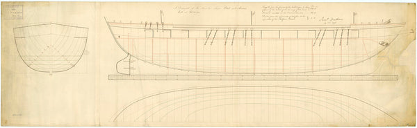 Lines plan for 'Arrow' (1796)