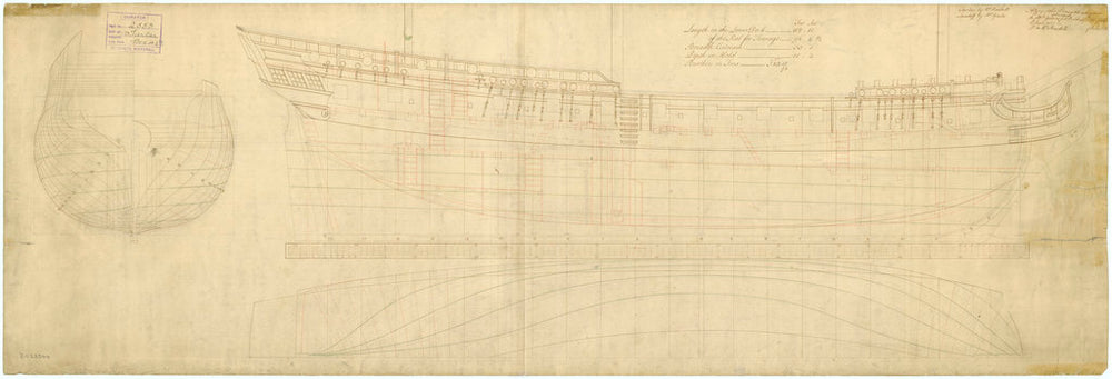 Plan for 'Lowestoff' (1756) and 'Tartar' (1756)