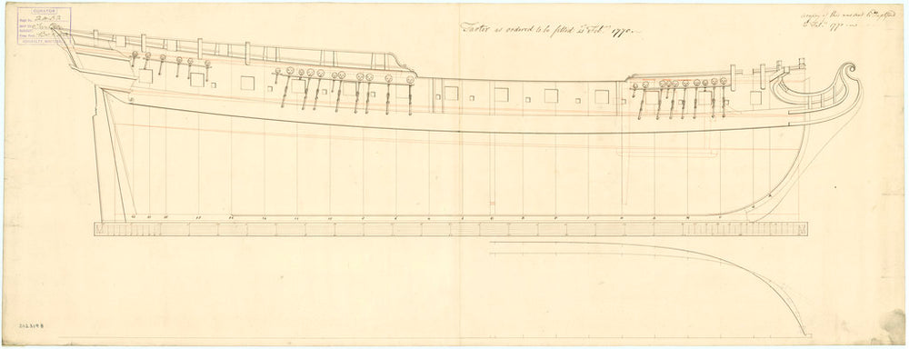 Plan of 'Tartar' (1757)