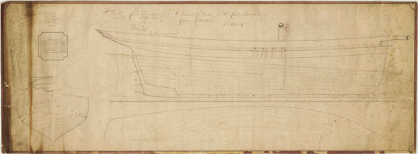 Lines plan for a Coast Guard Cutter 'Victoria' 131 tons