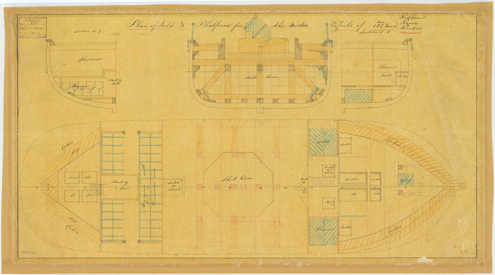 Plan of hold for Redbreast (1855), Raven (1855) and Rocket (1855)