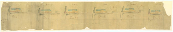 Gun plan for HMS 'Arachne' (1847)