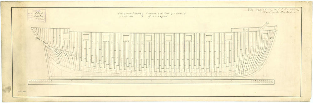 Frame plan for 'Comet' (1828); 'Electra' (1837); 'Lighting' (1829); 'Orestes' (1824)