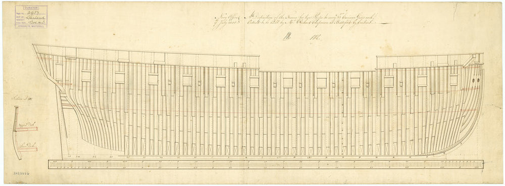 Frame plan for HMS 'Garland' (1807)