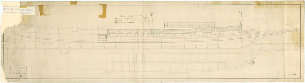 Plan for the Russian ship 'Dnyepr' (1785)