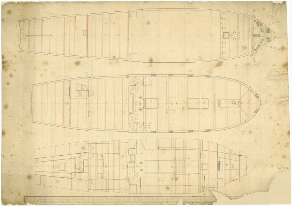 Deck plan for Royal Charlotte (no date)