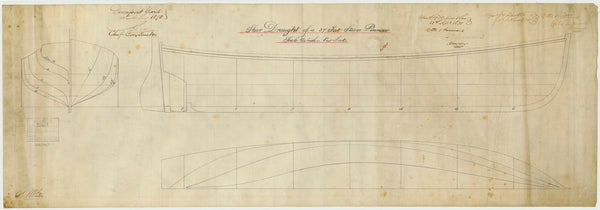 Lines plan for a 37ft Steam Pinnace