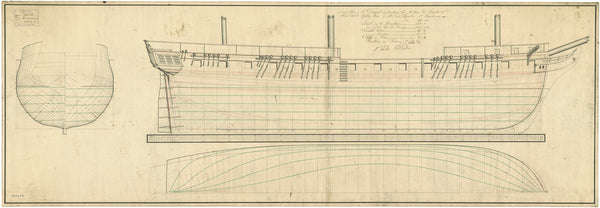 Lines plan for HMS 'Granicus' (1813)