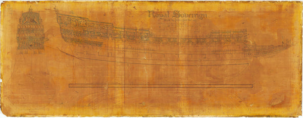 Lines plan of 'Sovereign of the Seas' (1637)