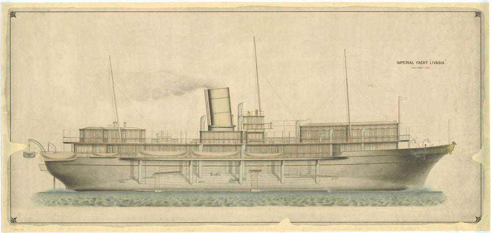 Plan of Imperial Russian Royal Yacht 'Livadia' (1880)