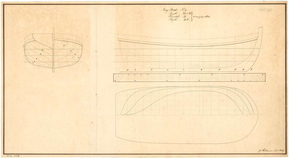 23ft to 28ft Longboat (1807)