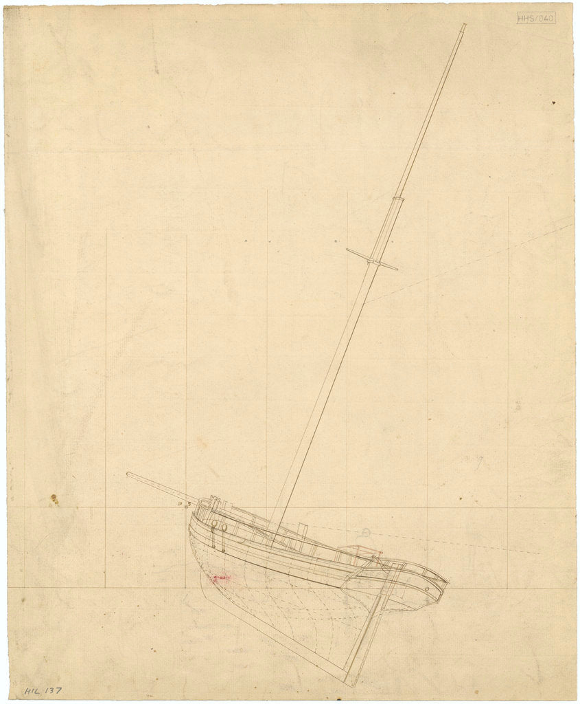 Unnamed single-masted gaff-rigged Cutter (no date)