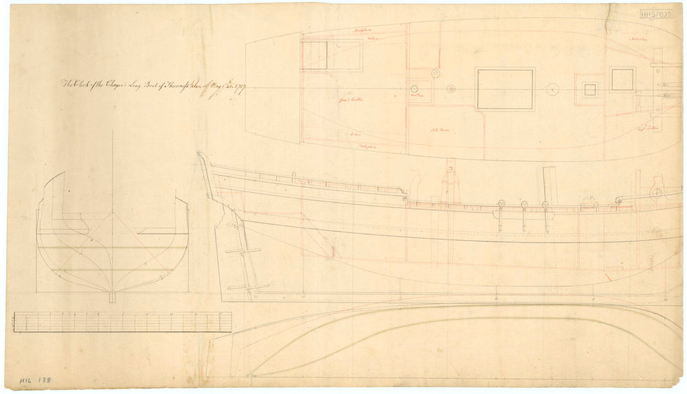 Unnamed single-masted Yacht for the Clerk of the Cheque of Sheerness (circa 1757)