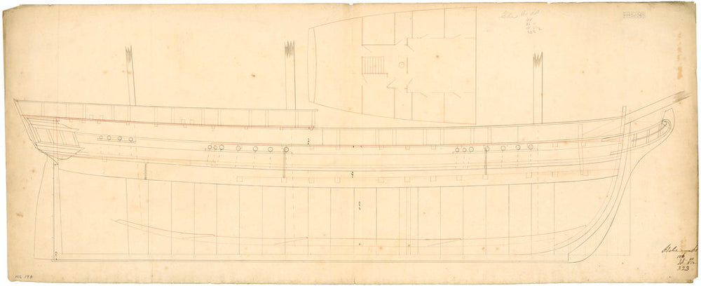 Plan of 'Hebe' (1826)