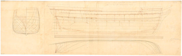 Plan of 'Pearl' (1833)