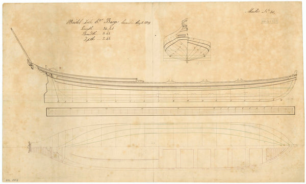 34ft Ceremonial Barge for Bristol Dock Company (1809)