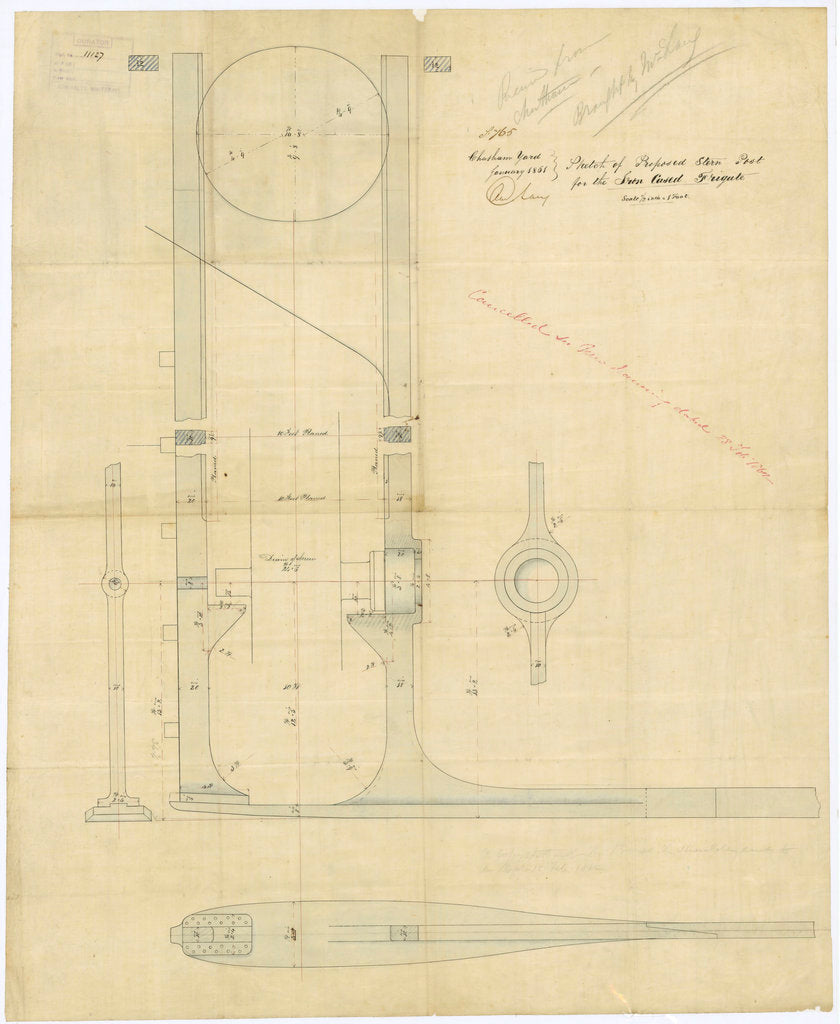 Plan of 'Warrior' (1860)