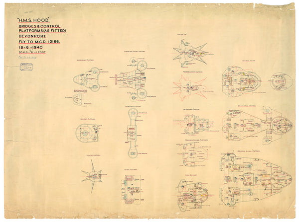 HMS Hood - Bridge deck plan
