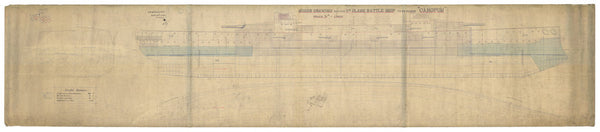 Lines plan for Canopus class (1897)