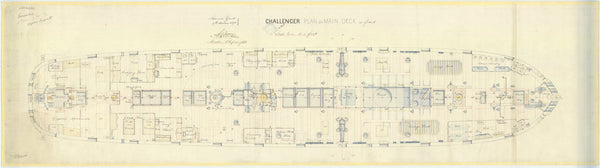 Main deck plan for 'Challenger' (1858)