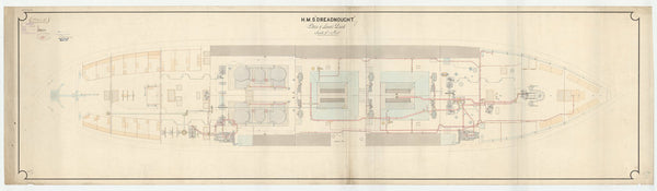 Lower deck plan of Dreadnought (1875)