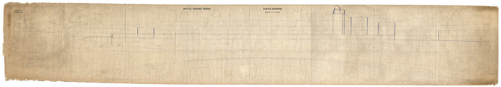 Sheer lines plan for HMS Renown (1916)