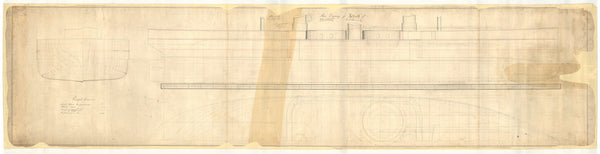 Sheer lines plan for Inflexible (1876)