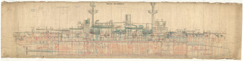 HMS Royal Sovereign (1891), Inboard profile