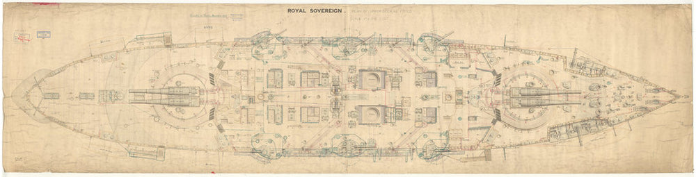 HMS Royal Sovereign (1891), Upper deck