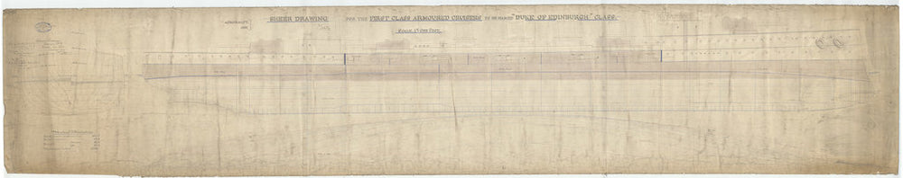 Lines plan of HMS Black Prince (1904)