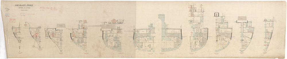 Sections plan of HMS Black Prince (1904)