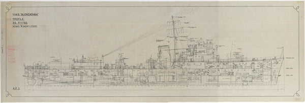 Ship plan of HMS Bleneathra