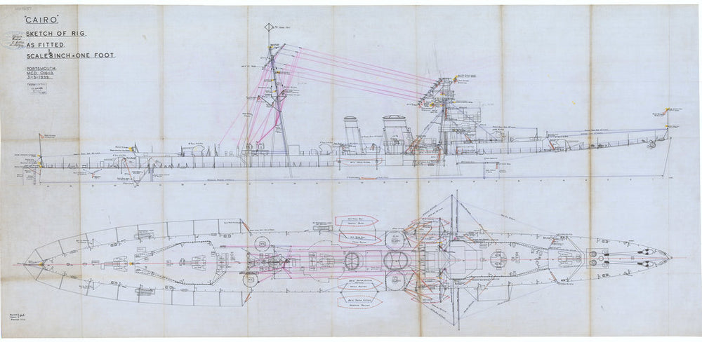 Rig and general arrangement plan for Cairo (1918)
