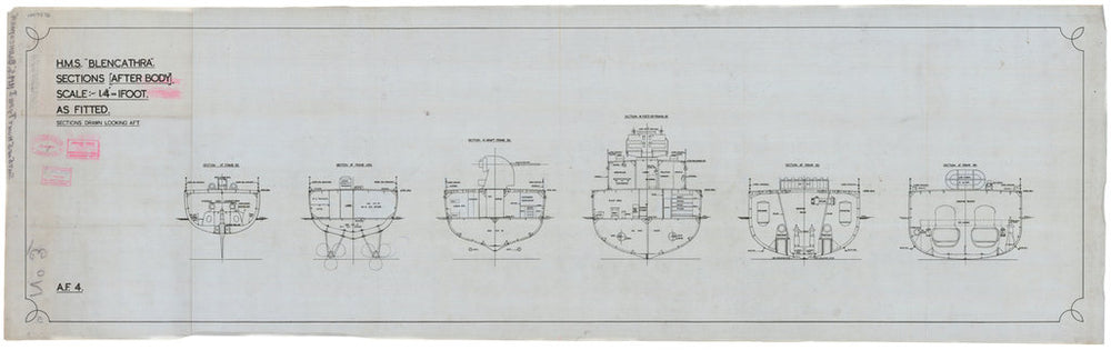 HMS Bleneathra, Aft section plan