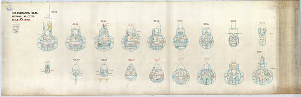 HMS Seal (1938) Sections